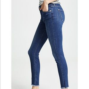 7 For All Mankind Jeans - 7FAM b(air) Jeans Skinny Ankle Raw Hem